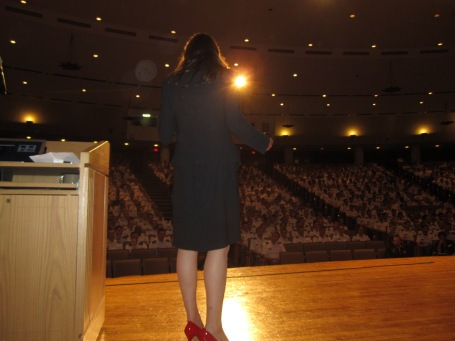 Barbara presenting the Castle Lecture at West Point