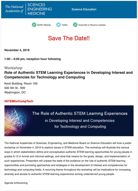 Save_The_Date__November_4th_Workshop- Role_of_Authentic_STEM_Learning_Experiences_in_Developing_Interest_and_Competencies_for_Technology_and_Computing